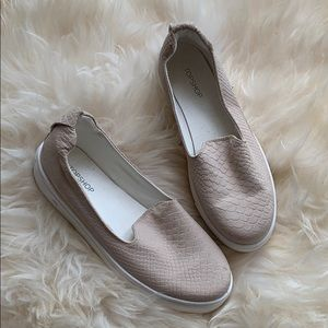 TopShop Nude Pink slip on shoes size 37